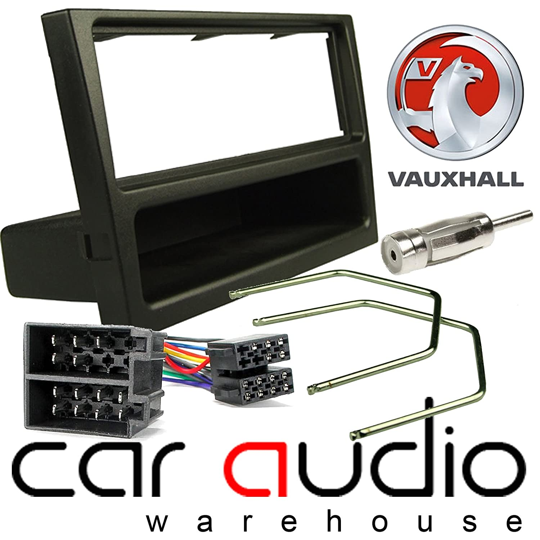 T1 Audio T1-VX01 PACK Black Finish Panel ISO Loom /& Aerial Adaptor Vauxhall Agila 2000-2004 Complete Car Stereo Facia Fitting Kit Single Din Facia Release Keys