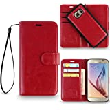 REALIKE™ {Imported} Premium Leather Flip plus Back (Two in One) Case for Samsung Galaxy S6 (Royalty Series- Wine)