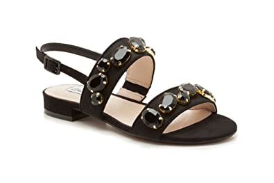 08988dc79d4f8f Clarks Womens Smart Clarks Studio Punch Leather Sandals In Black Wide Fit  Size 3