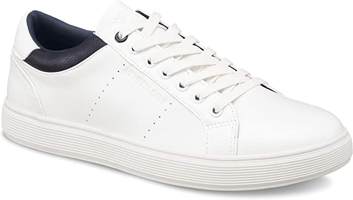 Mens Retro Shoes | Vintage Shoes & Boots Members Only Mens Packer 2.0 Low Top Court Sneakers $53.00 AT vintagedancer.com