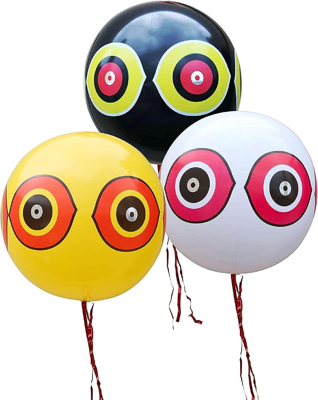 Kurala 3 PCS Reflective Eyes Balloon Bird Repellent, Keep Birds Away from Garden