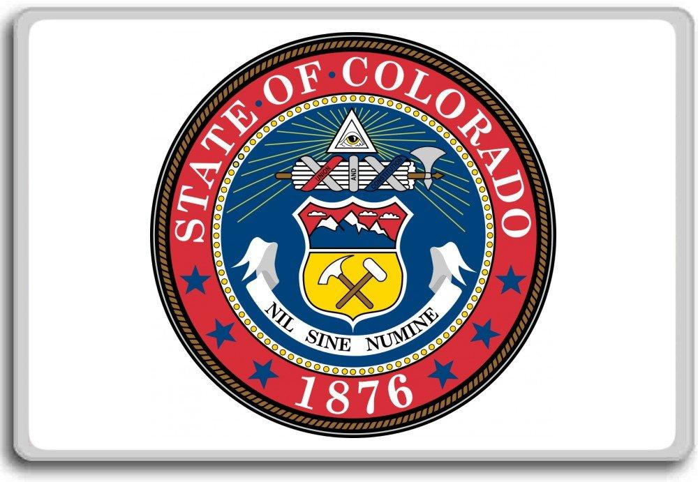 Seal Of Colorado Usa fridge magnet Aimant de r/éfrig/érateur
