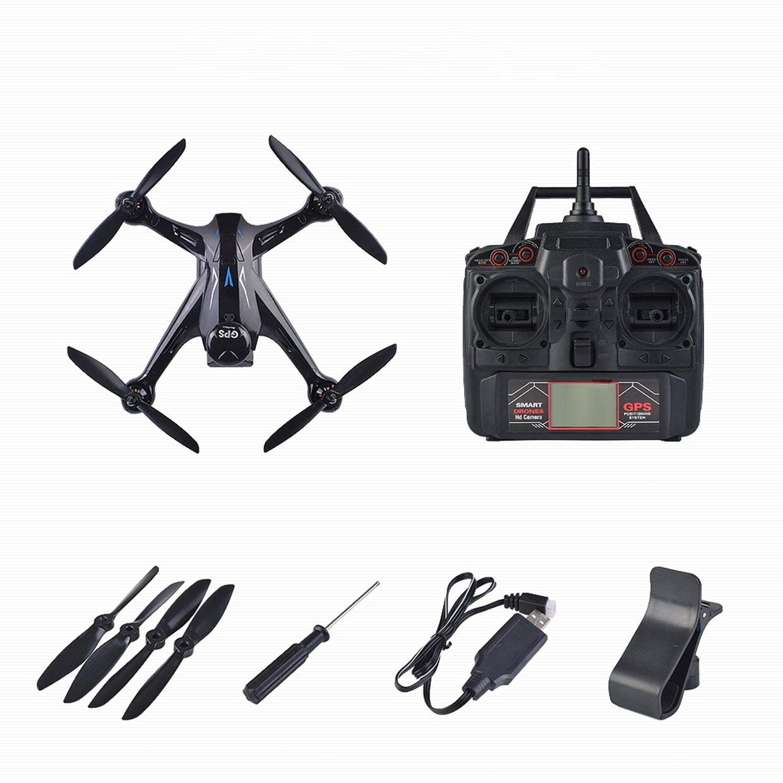 Qewmsg Professionelle Drohne Drohne Professionelle Ray X198 GPS Drohne Vierachsenflugzeuge Mit Feste Höhe 720 P WiFi Kamera Quadrocopter RC Drohne 5dfcfd