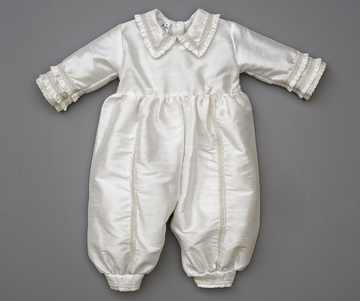 Heirloom Baby Boy's Christening Baptism Gown, Hand Made Ivory (Burbvus Ropones) by Burbvus (Image #10)