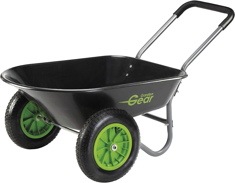Garden Gear Two Wheeled Wheelbarrow Heavy Duty Trolley Cart With Huge 78l Capacity Amazon Co Uk Garden Outdoors