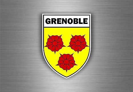 Adesivo per Auto Moto Stemma Citt/à Grenoble Region Armoirie Bandiera