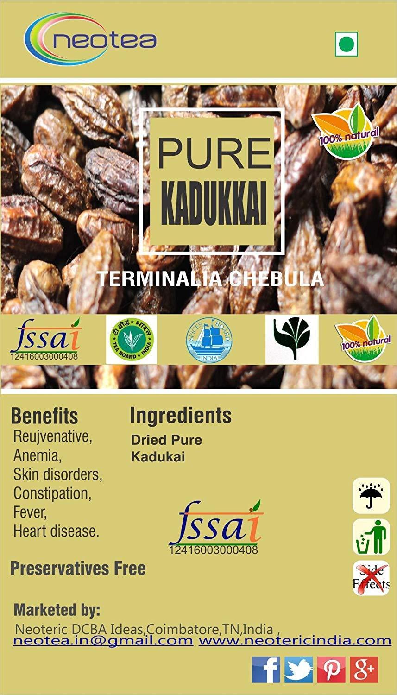 Neotea Harda | Terminalia Chebula | Kadukkai | Haritaki 250g (250 Grams) by Neotea