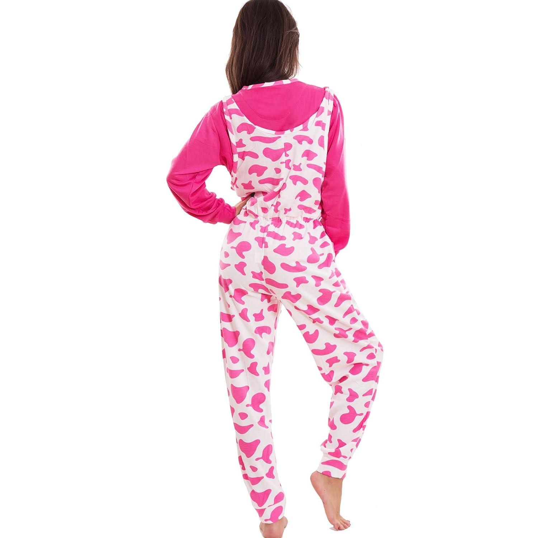 Toocool S-60 - Pijama de una pieza de felpa con botones y diseño de vaca para mujer: Amazon.es: Ropa y accesorios