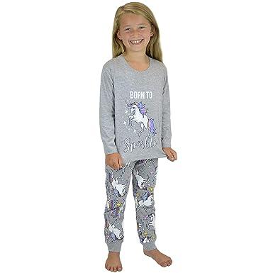 a6b242a3e0 Ladies Girls Cotton Jersey Born to Sparkle Unicorn Grey Pyjama Mini Me  Matching Mother   Daughter Pyjamas PJs  Amazon.co.uk  Clothing