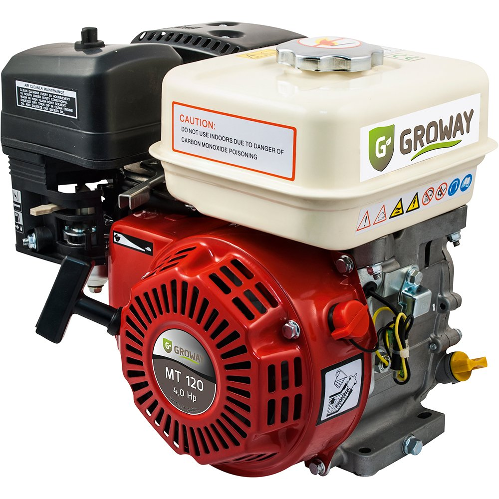groway mt-120s 4T 118 cc OHV Benzin – Motor, 4 HP, Achse 18x50 mm