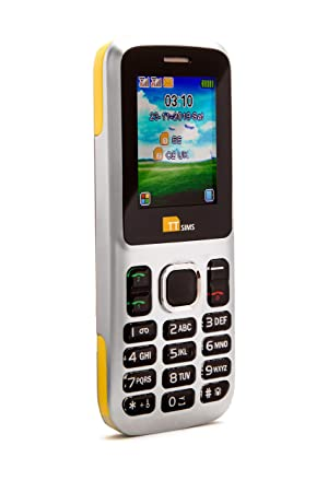 TTsims TT130 - Teléfono móvil (Dual SIM, cámara, Bluetooth, función Linterna, Radio MP3/MP4, Ranura para Tarjeta de Memoria) Color Amarillo