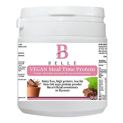 Belle® Vegan Meal time Polvo de proteína de soja - Chocolate Mint Flavour - sin