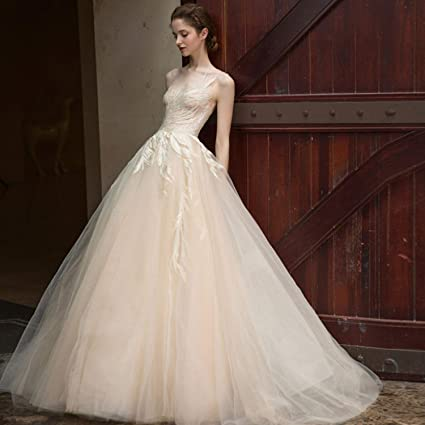 exceptional range of colors discount price aliexpress Amazon.com: CJJC Ladies Bride Wedding Dresses Simple Elegant ...