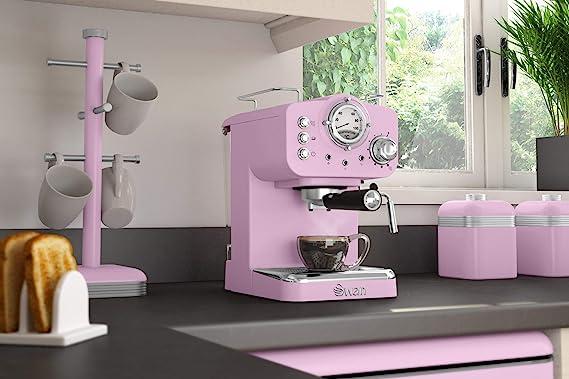 Swan cafetera Espresso SK22110PN, retro, color rosa.: Amazon ...