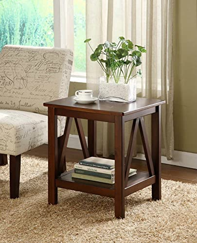 FurnitureMaxx Titian Wood End Table