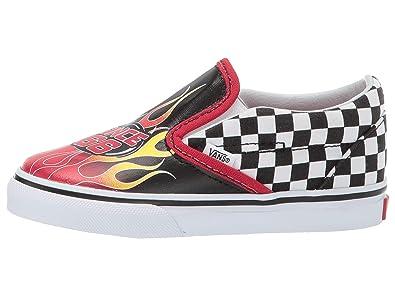 cb6ab3c2bf07 Vans T Classic Slip-ON(UJ6) (Race Flame) Black Racing