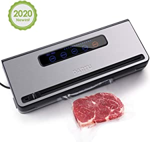 """PARTU 2-in-1 Vacuum Sealer Machine Automatic Food Sealing & Vacuum for Dry/Wet Food Savers w/ 11"""" x 118"""" Sealer Bag, 2 External Suction Pipe for Fresh-keeping Tank and Clothes Storage"""
