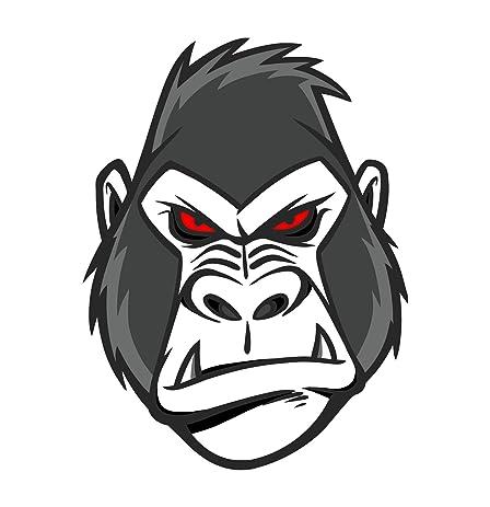 Mean gorilla sticker decal
