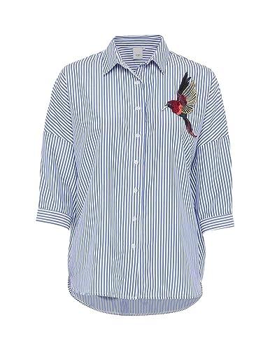 ICHI Camisa Asta Pã¡Jaro Azul