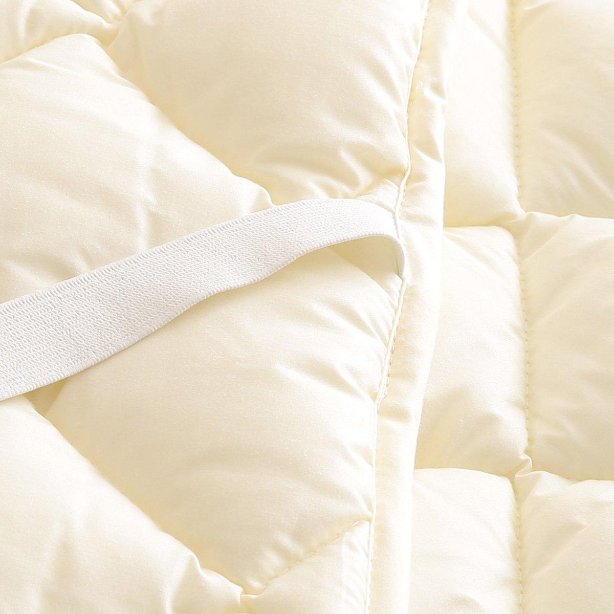 ベッドパッド マイティトップ2Q アイボリー160×200 クィーン B07KFT382W