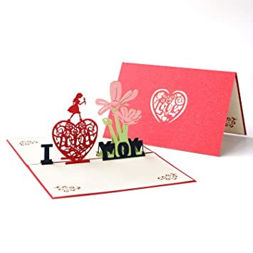 Paper Spiritz Pop Up Thank You Mom Thanksgiving Cards For