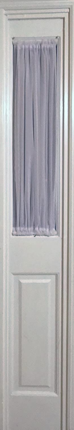 Amazon WHITE SHEER SIDELIGHT CURTAIN 29 WIDE 35 LENGTH ROD POCKET TOP AND BOTTOM Home Kitchen