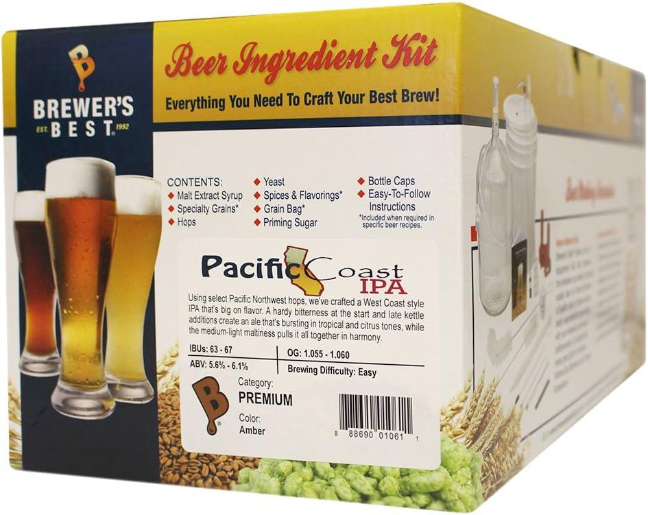 Brewer's Best Pacific Coast IPA Beer Ingredient Kit (5 Gallon Kit)