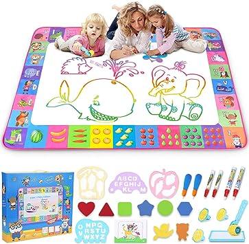 Aqua Magic Mat – Juego de mesa de dibujo para niños – Colchoneta de dibujo de caniche de