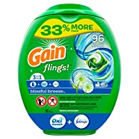 Deals on 96-Ct Gain flings Liquid Laundry Detergent Pacs Blissful Breeze