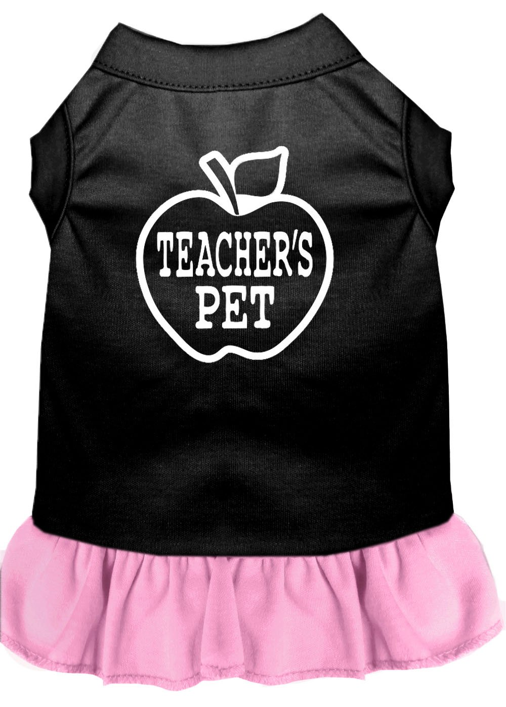 Mirage Pet Products Teachers Pet Screen Print Dress Black with Light Pink XXXL (20)