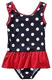 belamo Baby Girls Polka dot Swimsuit Toddler one