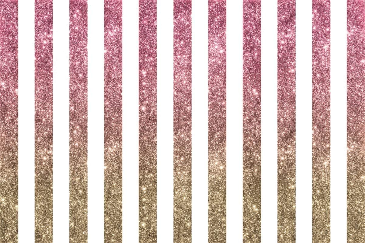 YEELE Abstract Sparkling Stripes Backdrop 10x8ft 30th 40th 50th 60th 70th 80th Birthday Party Photography Backdrop Woman Lady Girls Portrait Dessert Table Decor Photobooth Props Digital Wallpaper