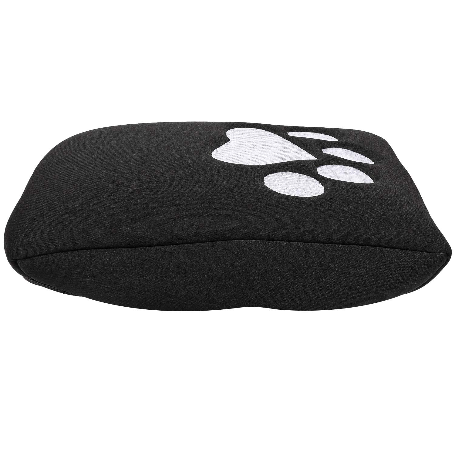 Sunluway Neoprene Center Console Armrest Pad Cover Protector Cushion for Jeep Wrangler JL 2018 2019 Dog Paw Sewing Logo