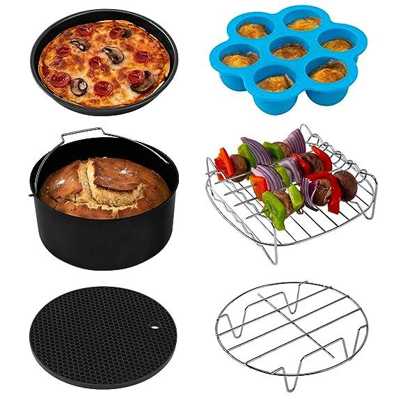 COSORI Air Fryer Accessories XL (C158-6AC), Set of 6 Fit all 5.3Qt, 5.8Qt, 6Qt Air Fryer, FDA Compliant, BPA Free, Dishwasher Safe, Nonstick Coating, ...