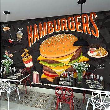 Mural Personalizado Pintura De Pared Hamburguesa Pollo Frito ...
