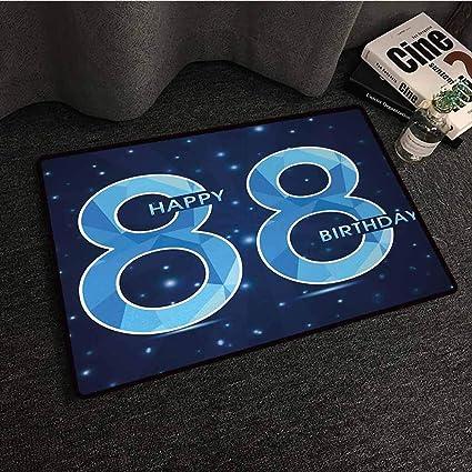 Amazon.com: DILITECK - Felpudo moderno para 80 cumpleaños ...