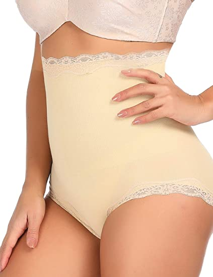 f6141ee0a4cf1 Women Body Shaper Butt Lifter Hi-Waist Panty Slimming Tummy Control  Shapewear Seamless Underwear at Amazon Women s Clothing store