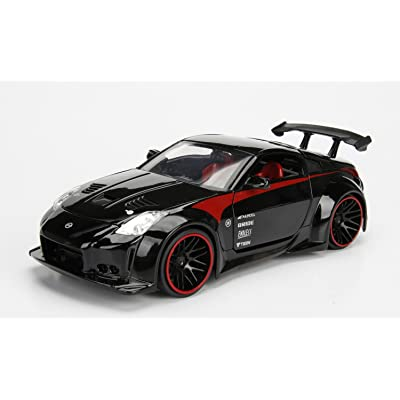 Jada 99111 2003 Nissan 350Z Black JDM Tuners 1/24 Diecast Model Car: Toys & Games