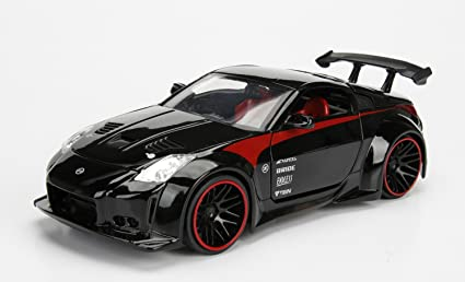 coche modelo 1:24//jada Toys Nissan 350z 2003 rojo