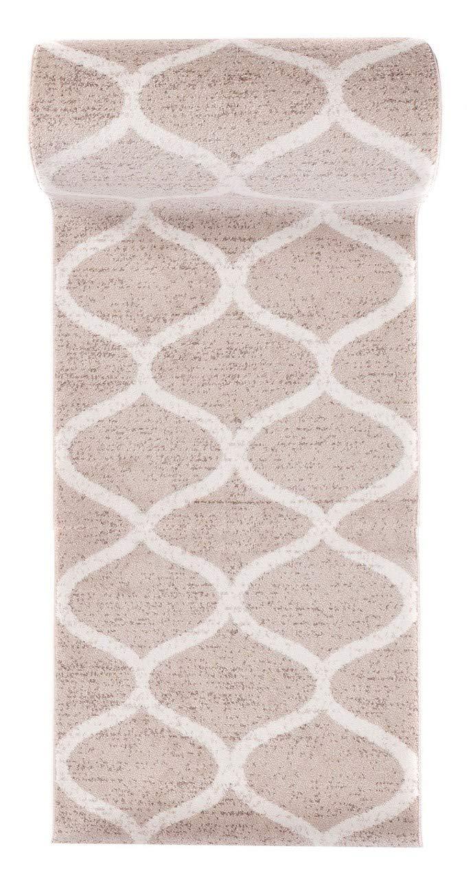 Parfait pour La Chambre Motif Marocain Plusieurs Coloris /& Tailles Casablanca 80 x 300 cm Design Moderne /& Traditionnel Blanc Noir WE LOVE RUGS CARPETO Tapis de Passage Couloir sur Mesure