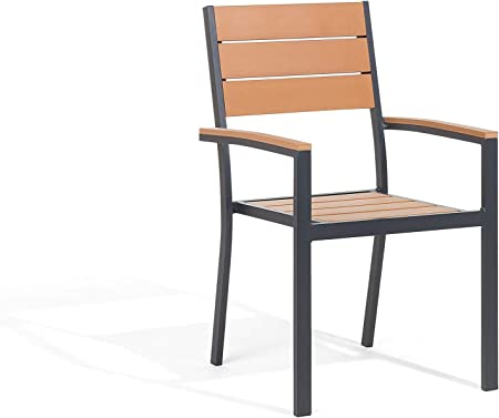 Sedie In Alluminio E Legno.Sedia Da Giardino Marrone In Alluminio E Legno Sintetico Prato