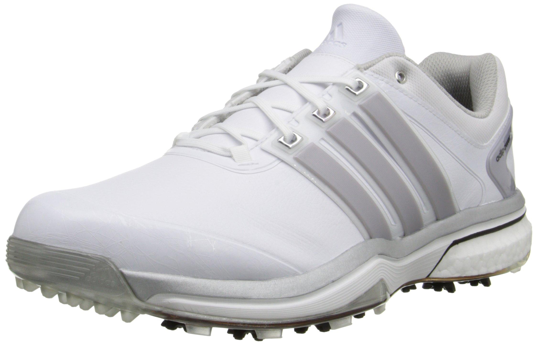adidas Men's Adipower Boost Golf Shoe, Running White/Silver Metallic/Running White, 8 M US by adidas
