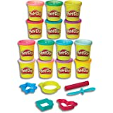Play-Doh - Adventure Tools inc 13 Tubs of Dough, 18 Stampers and Accessories - Creative Kids Toys - Ages 3+