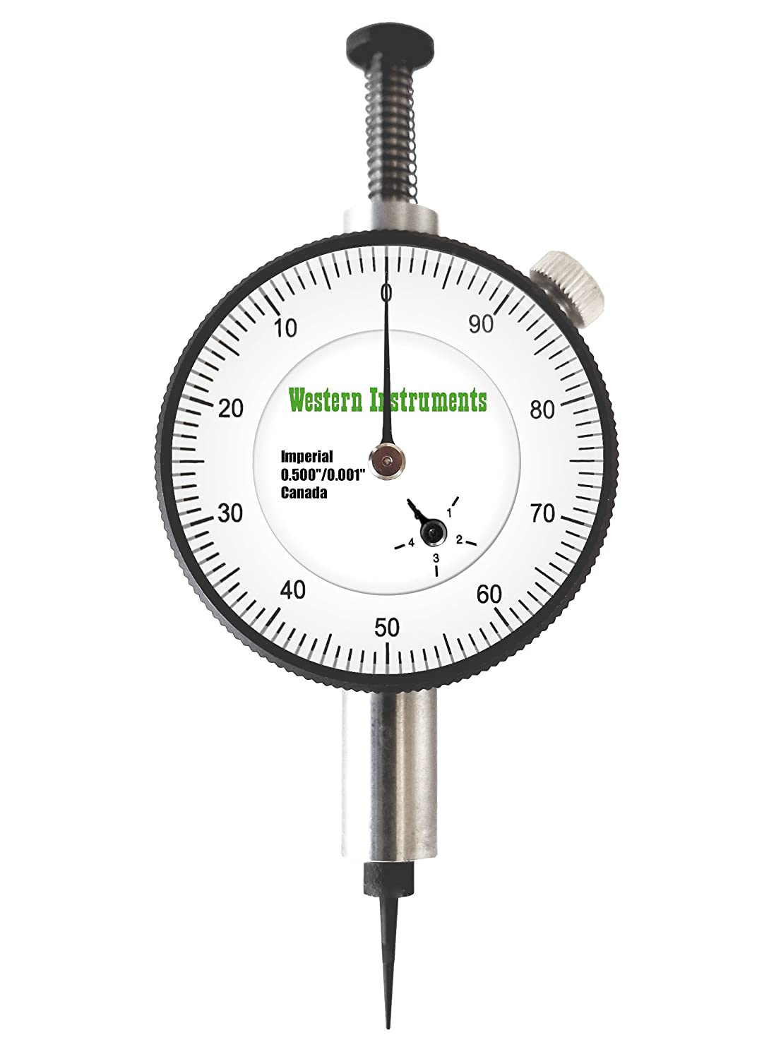 4.75 121 mm Range: 0.0-0.5 Resolution: 0.001 Blade Dial Diameter: 1.4 Western Instruments N88-5-I Reaching Pit Gauge with Inch Dial Indicator
