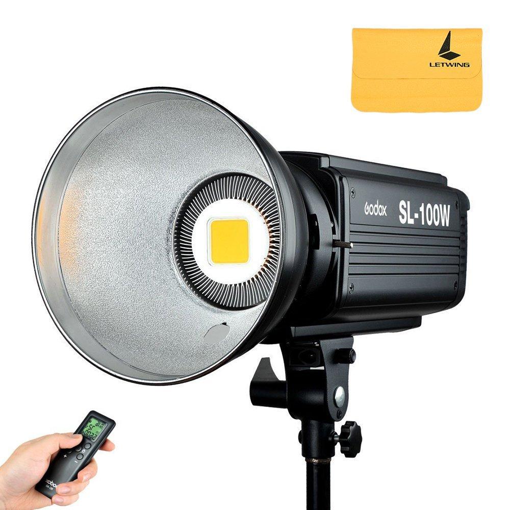Godox sl-100 W Studio 2400lux LED連続ビデオライトBowensマウント、連続出力照明   B01GZWKFSS