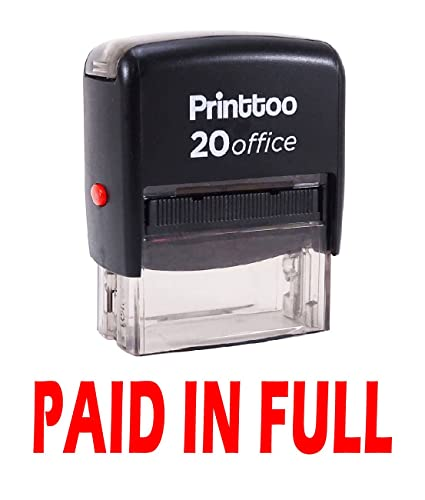 Stamps & Stamp Supplies Paid in Full Self-Inking Rubber-Stamp