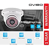 OVIBO® 2MP Full HD 1080p Dome Camera with 36 LED's for Night Vision Compatible with DVR/CCTV
