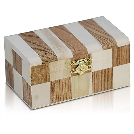 """Brynnberg Caja de Madera Cherry 13,5x8x6,5"""" - Cofre del Tesoro Pirata"""