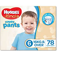 Huggies Ultimate Nappy Pants, Boys, Size 6 Junior (16+kg), 78 Count