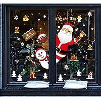 Tuopuda Navidad Adhesivo Ventana Pegatina Navidad Escaparate Papá